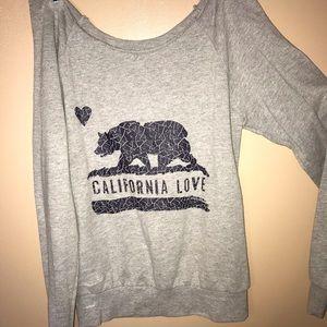"Off Shoulder ""California Love"" Sweatshirt"